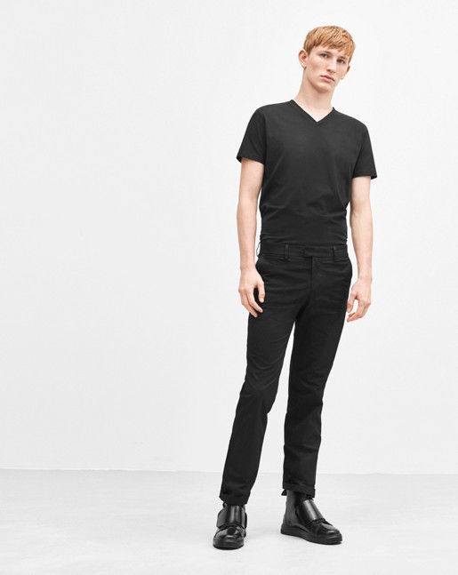 Liam Cotton Stretch Chino Black