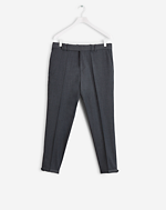 Gregory Cropped Cavalry Twill Grey Mel