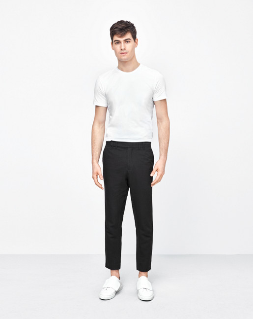 Gregory Linen Slacks Black