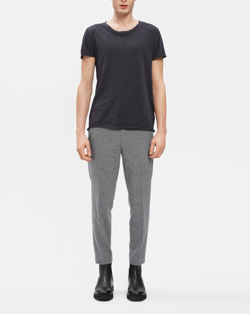 Terry Cropped Pants Grey Mel