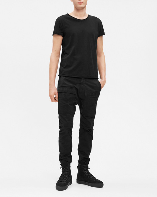 Arek Cropped Garment Dyed Cargo Pants