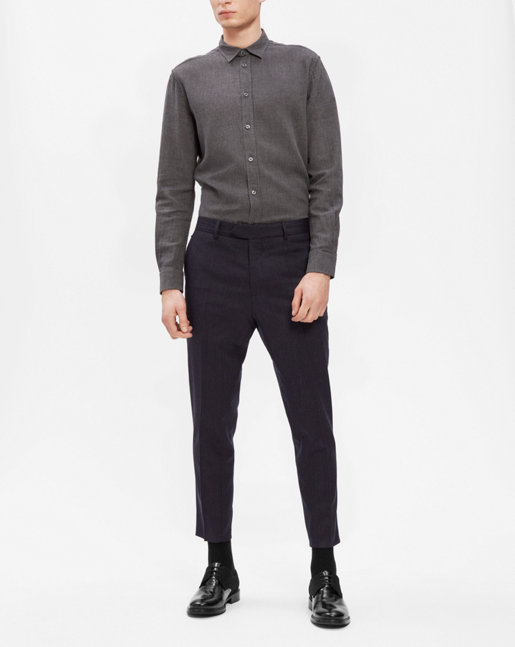 Gregory Striped Slacks Navy/Charcoal
