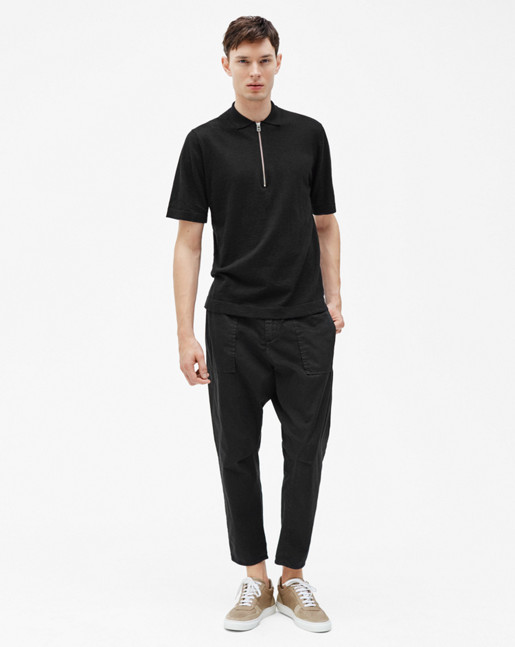 Utility Cotton Pants Black