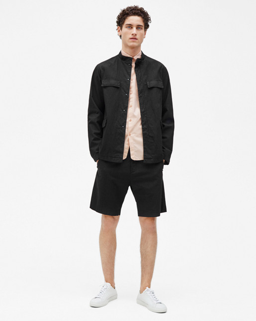 Pieter Seersucker Shorts Black