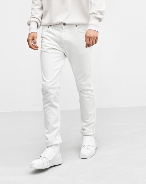 Stan Rinse Wash White Jeans