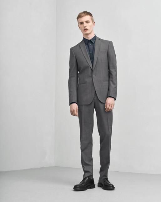 Christian Cool Wool Jacket Grey Mel