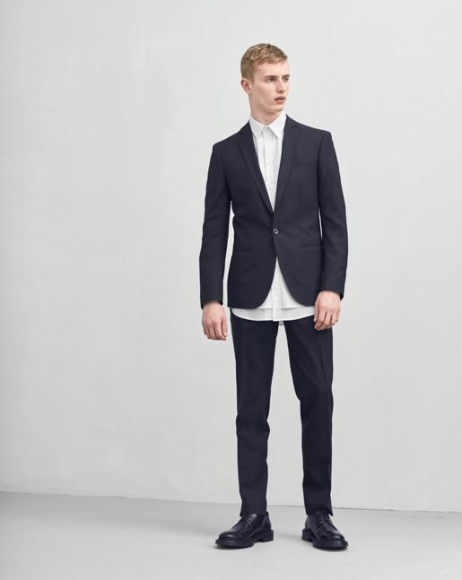 Christian Cool Wool Jacket Navy
