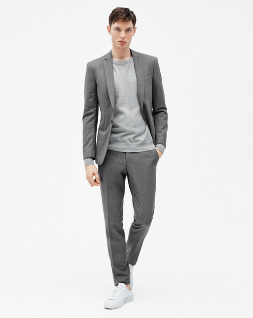 Christian Cool Wool Jacket Grey Melange