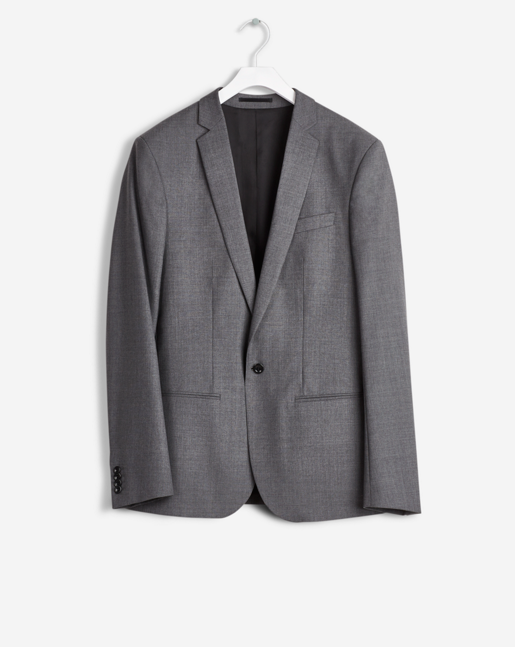 Christian Cool Wool Jacket Grey Mel.