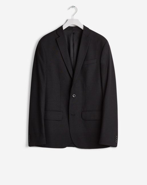 Tom Cool Wool Jacket Black - TALL