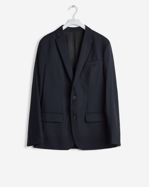 Tom Cool Wool Jacket Navy - TALL