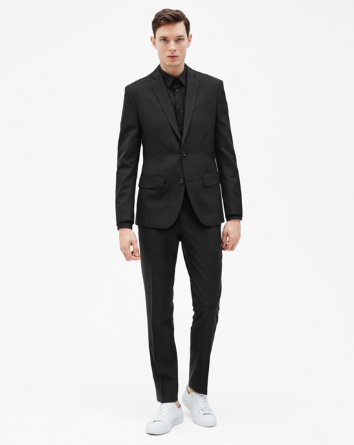 Tom Cool Wool Jacket Black