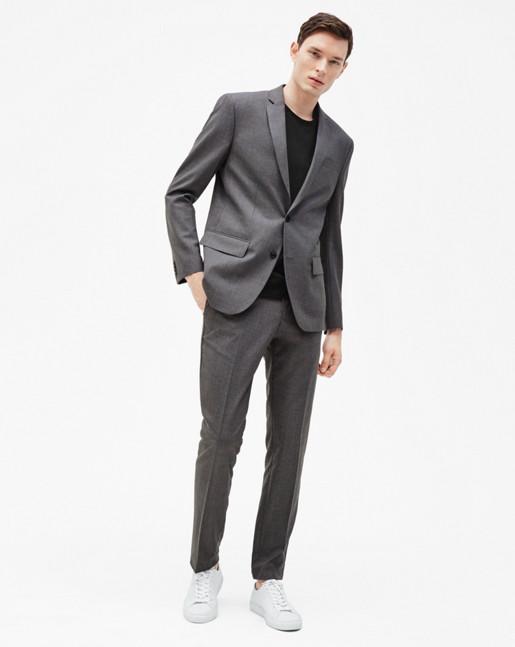 Tom Cool Wool Jacket Grey Melange