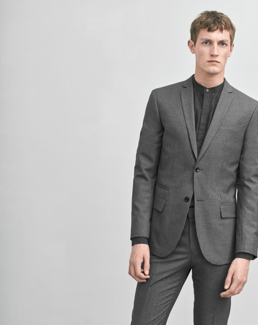 Rick Cool Wool Jacket Grey Mel