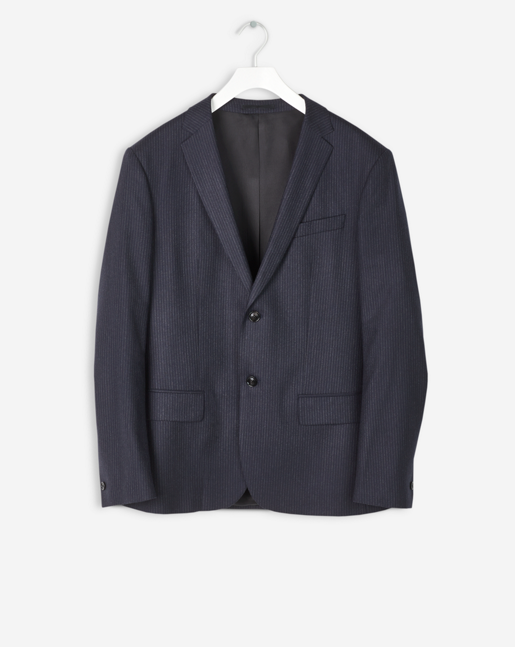 Rick Striped Blazer Navy/Charcoal