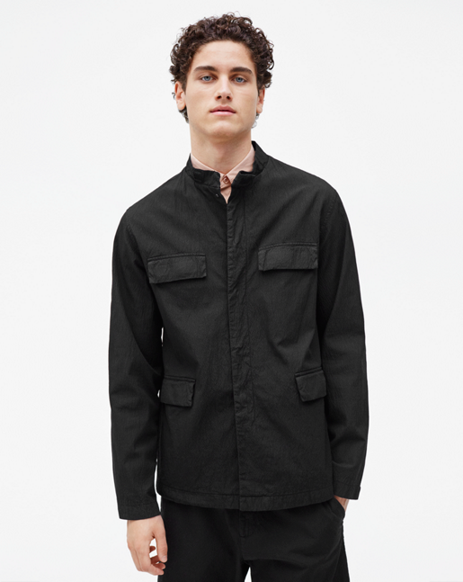 Saul Seersucker Jacket Black