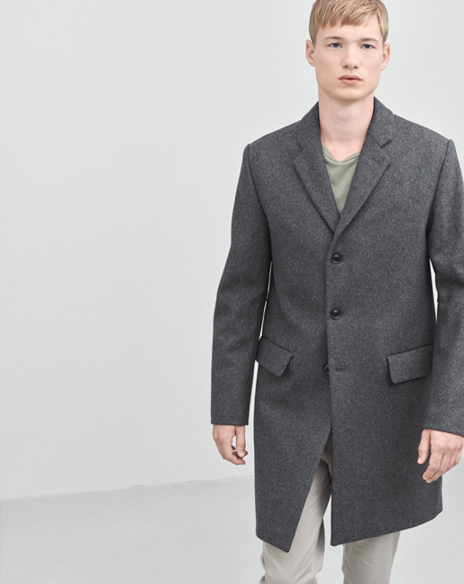 Ralph Wool Coat Grey