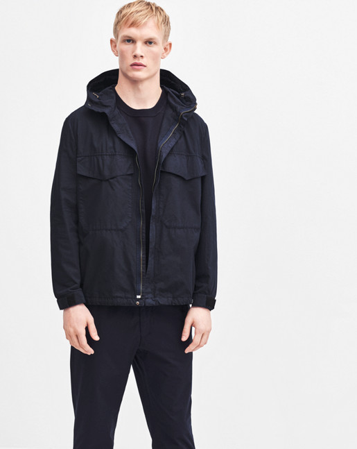 Nathan Cotton Jacket Navy