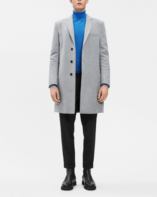 Ralph Wool Coat Grey Mel.