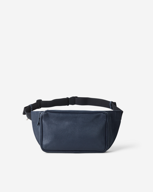 Leather Fanny Pack Navy