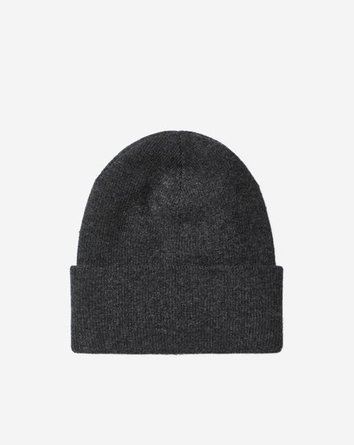 Knitted Wool Hat Dk Grey Mel.
