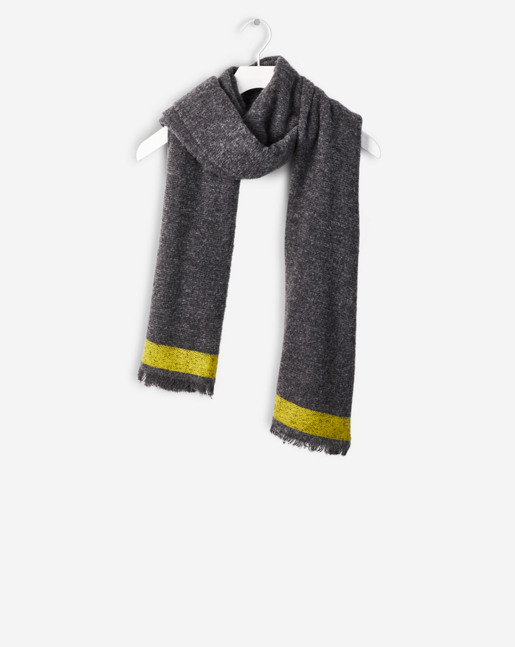 Bitonal Wool Scarf Grey Mel/Torch