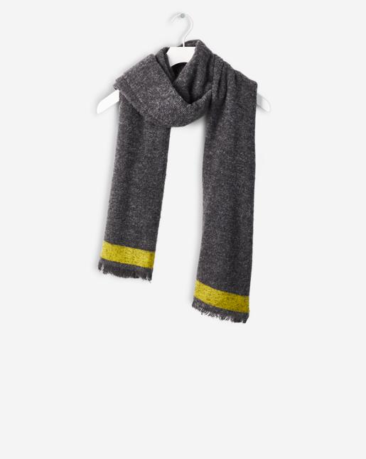 Bitonal Wool Scarf Grey Mel./Torch