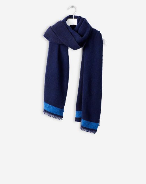 Bitonal Wool Scarf Shore/Sky