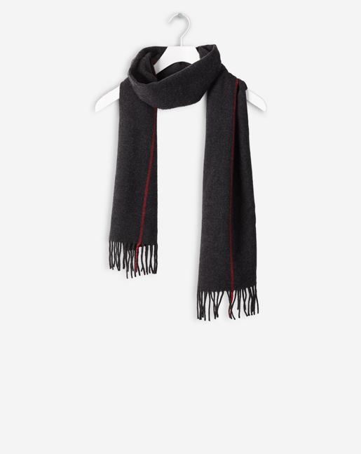 Pinstripe Wool Scarf