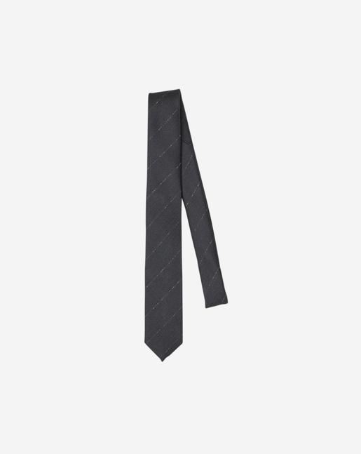 Wool Pinstripe Tie