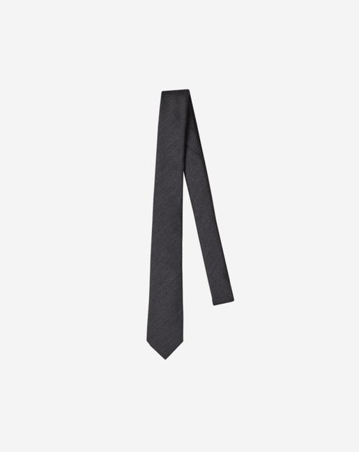 Wool Twill Tie Dk Grey Mel.