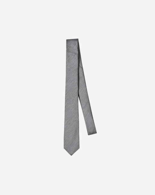 Wool Twill Tie Light Grey