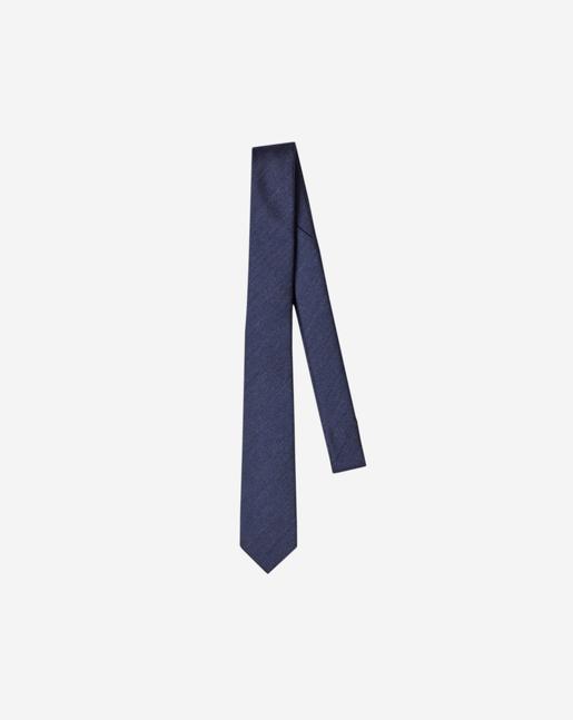 Wool Twill Tie Navy