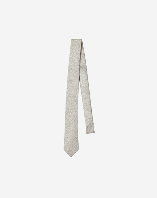 Wool Flannel Tie Light Grey