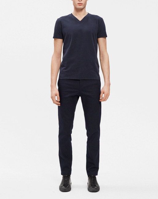 Soft Lycra V-Neck Navy