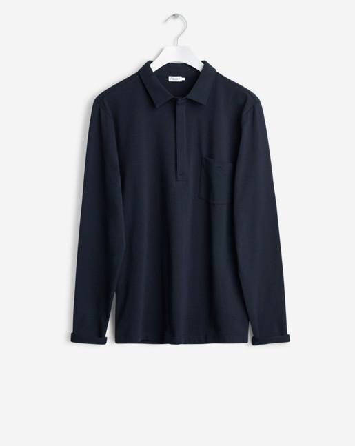 Soft Lycra Poloshirt Navy