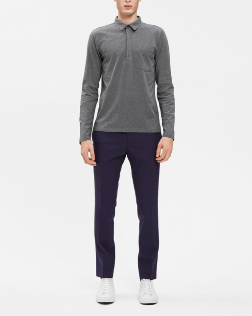 Soft Lycra Poloshirt Grey Mel.
