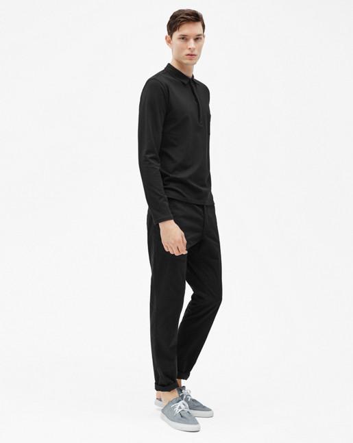 Soft Lycra Poloshirt Black
