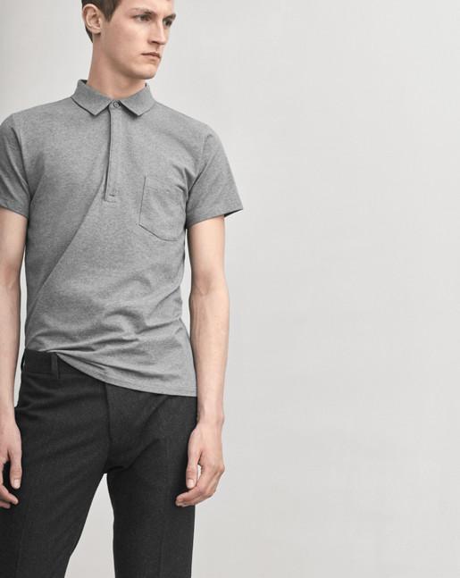 Soft Lycra S/S Poloshirt Grey