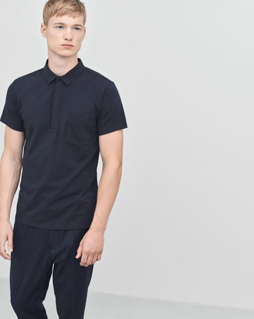 Soft Lycra S/S Poloshirt Navy