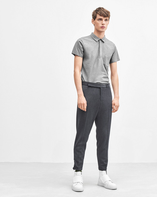 Soft Lycra S/S Poloshirt Grey Melange
