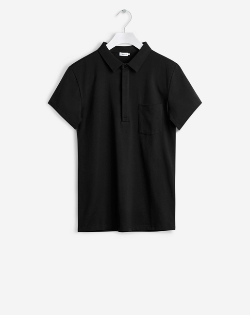 Soft Lycra S/S Poloshirt Black