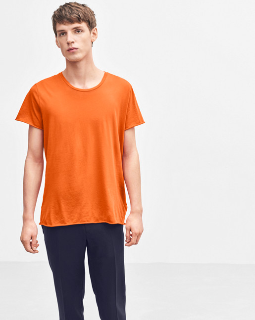 Lt. Single Jersey Tee Orange Fire