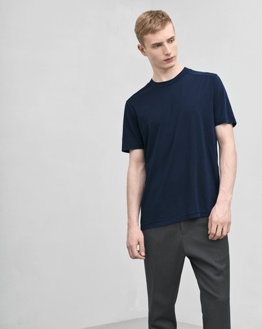 Tencel Cotton Tee Navy