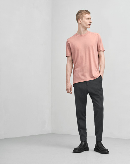 Tencel Cotton Tee Salmon