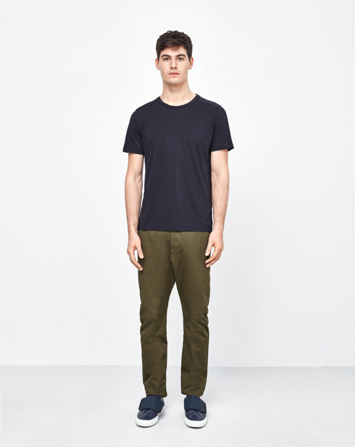 Adrian Tencel/Cotton Tee Navy