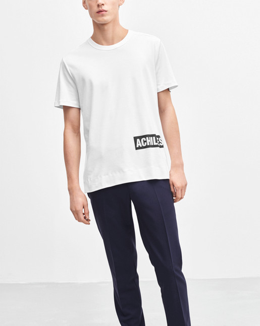 Adrian Cotton Interlock Tee White