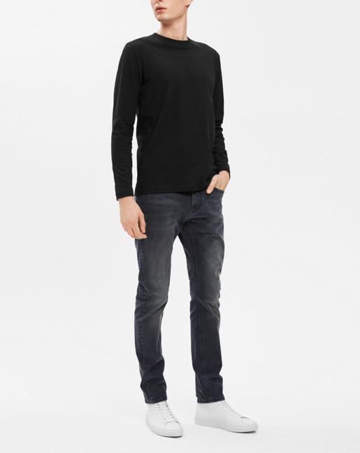 Adrian Heavy Cotton L/S Black
