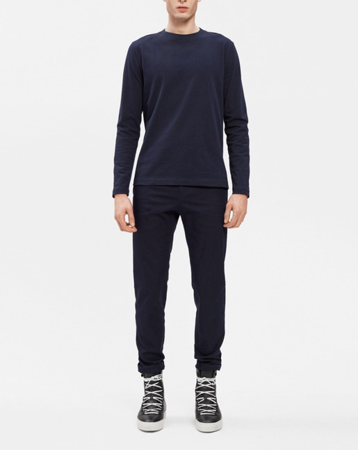 Adrian Heavy Cotton L/S Navy