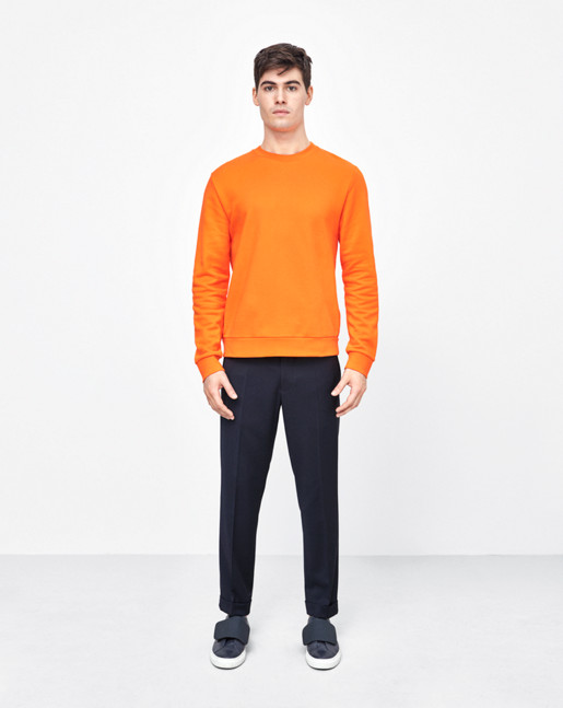 Tyco Cotton Solid Sweatshirt Orangefire